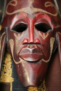 African wooden mask.