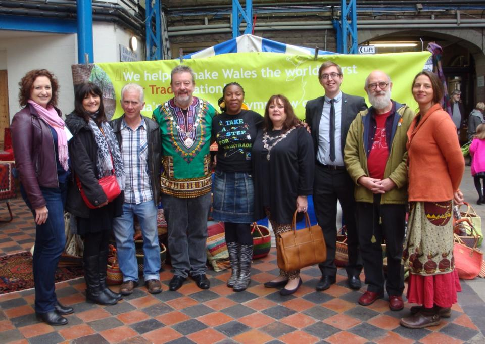 Cllr Martin Hickman (Mayor in 2014) with Love Zimbabwe Trustees